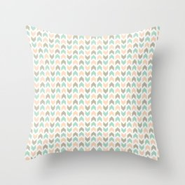 Pattern: Olive + Peach Arrows Throw Pillow