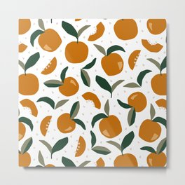 Mid Century Modern Abstract Oranges Metal Print