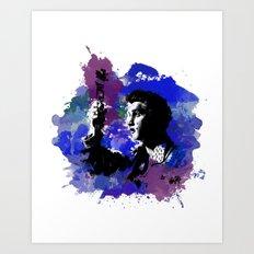 Elvis Color Splash Art Print
