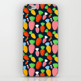 Carrots not only for bunnies - seamless pattern iPhone Skin