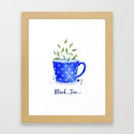 Black Tea in Watercolor Framed Art Print