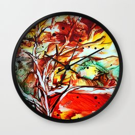 GoldenOctober Wall Clock