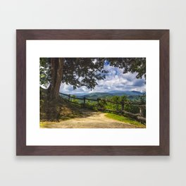 Valley Overlook Framed Art Print