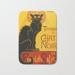 Le Chat Noir The Black Cat Art Nouveau Vintage Bath Mat