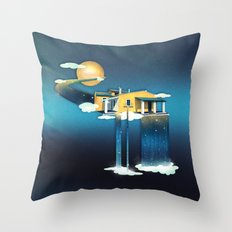 Castle in Heaven Throw Pillow