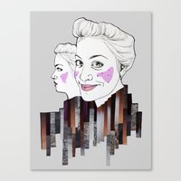 sisters Canvas Prints featuring sisters by Alexandra Boman