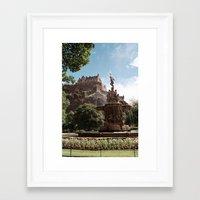 edinburgh Framed Art Prints featuring Edinburgh by Floriane Emelyne