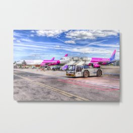 Wizz Air Aircraft Metal Print