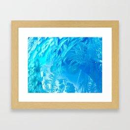 Hoar Frost in Turquoise Framed Art Print