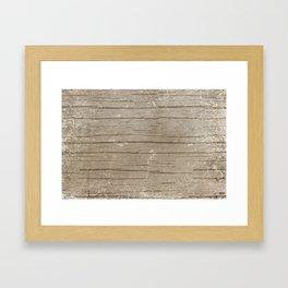 Nautical Driftwood Wood Grain Pattern Framed Art Print