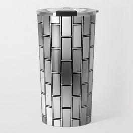 BRICK WALL #2 (Grays & White) Travel Mug
