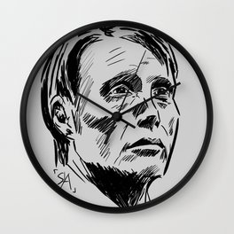 Hannibal Lecter Sketch Wall Clock