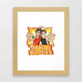 TEAM NICE DYNAMITE Framed Art Print