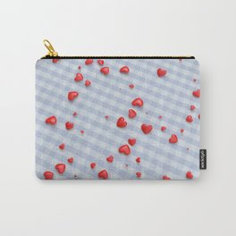 VALENTINE HEARTS - Red Hearts & Boys Blanket Carry-All Pouch