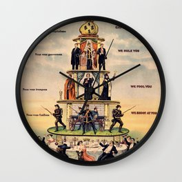 Pyramid of the Capitalist System Wall Clock