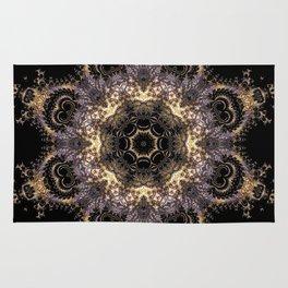 Purple and Gold Fractal Kaleidoscope 2 Rug