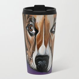 Dog, acrylic on canvas Travel Mug