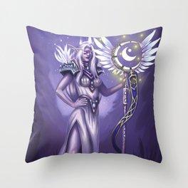 An Elven Noble Throw Pillow