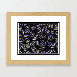 Grosland Abstract Expression Yellow Blue Framed Art Print