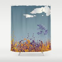 pigeon Shower Curtains featuring pigeon by Shelby Claire