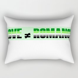 Love Doesn't Equal Romance Rectangular Pillow