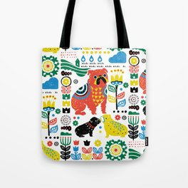 Scandinavian English Bulldog Tote Bag