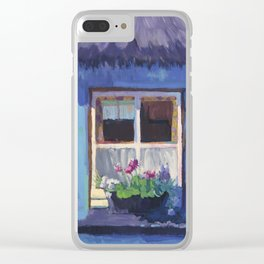 The Blue House Clear iPhone Case