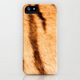 Safari Tiger Fur Theme iPhone Case