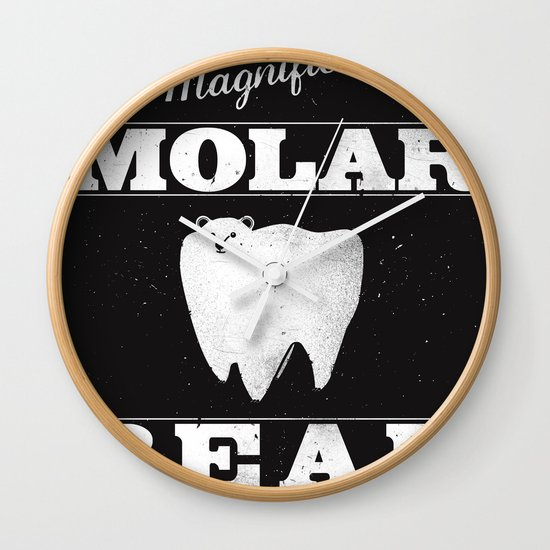 Molar Bear (Gentlemen's Edition) Wall Clock