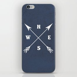 Compass arrows iPhone Skin