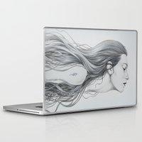 mermaid Laptop & iPad Skins featuring Mermaid by Diego Fernandez