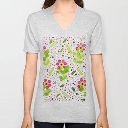 Fruits and vegetables pattern (15) Unisex V-Neck