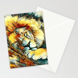 AnimalArt_Lion_20170604_by_JAMColorsSpecial Stationery Cards