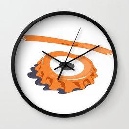 bottle eye cap Wall Clock