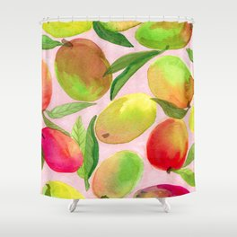 Mango Watercolor Painting Shower Curtain
