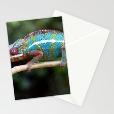 Turquoise Chameleon Stationery Cards