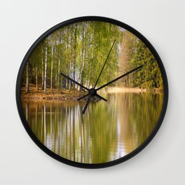It's almost summer! Reflection Tree Lake #decor #society6 Wall Clock