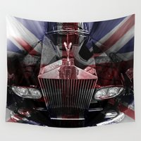 british flag Wall Tapestries featuring The great British Rolls by Cozmic Photos