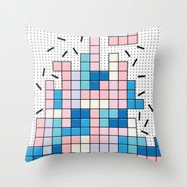 Memphis Tetris Throw Pillow