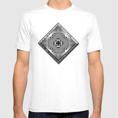 Garden of Illusion 2 MEDIUM Mens Fitted Tee White