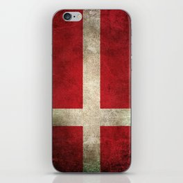 Old and Worn Distressed Vintage Flag of Denmark iPhone Skin