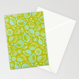 Hedgehog Pasley_Blue-Green Stationery Cards