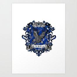 Ravenclaw Color Crest Art Print