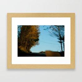 Orange Allergany Framed Art Print