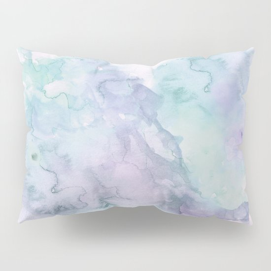 Pastel modern purple lavender hand painted watercolor wash Pillow Sham by Girly Trend Society6