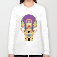 castle Long Sleeve T-shirts featuring castle  by crayon dreamer
