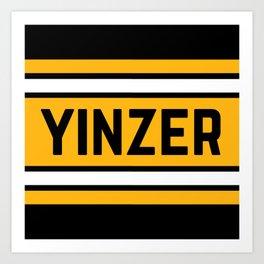 Pittsburgh Yinz Yinzer Football 412 Steel City Funny Home Pride Art Print