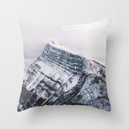 Mt. Rundle Piercing the Clouds Throw Pillow