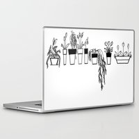 plants Laptop & iPad Skins featuring Plants by One Fig Blossom Studio