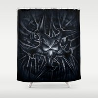 evil Shower Curtains featuring Evil by GLR67